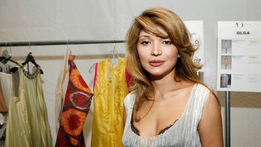 Gulnara Karimova poses backstage at the Guli fashion show in New York, on September 10, 2010. French authorities are investigating a money laundering case that targets Karimova, the Uzbek leader's daughter, among others, a judicial source has told AFP.