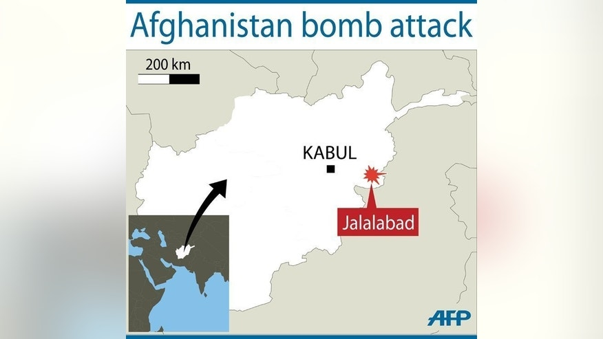 Jalalabad in eastern Afghanistan, where a bomb attack wounded 16 people on Sunday, a day after a deadly suicide blast targeted the Indian consulate