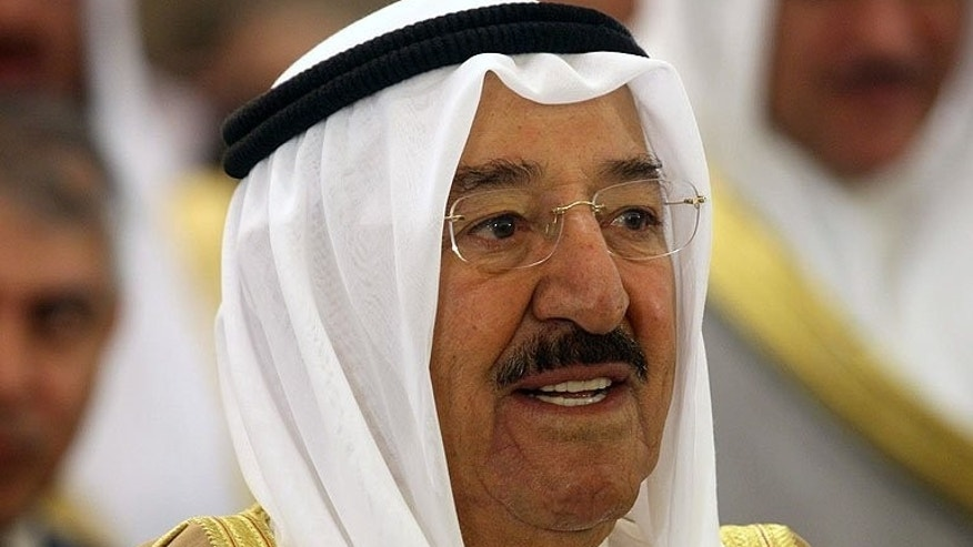 Emir Sheikh Sabah al-Ahmad al-Sabah attend the 19th Arab Inter-Parliamentary Union (AIPU) summit in Kuwait City, on April 9, 2013. Kuwait's appeals court has overturned a three-year jail term on three former opposition MPs and acquitted them from the charge of insulting the emir, a rights activist said.