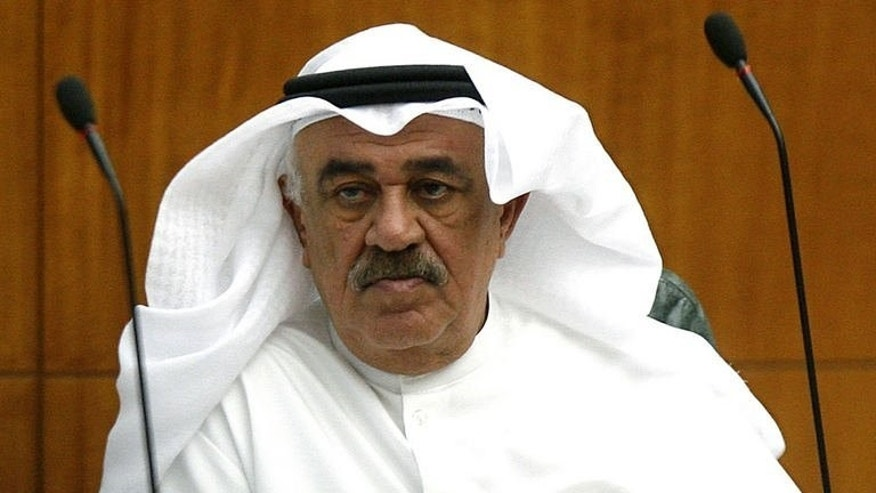A file photo taken on May 24, 2012, shows Mustafa al-Shamali attending a parliament session in Kuwait City. Shamali has been appointed oil minister in a new Kuwaiti cabinet line-up that was announced on August 4, 2013.