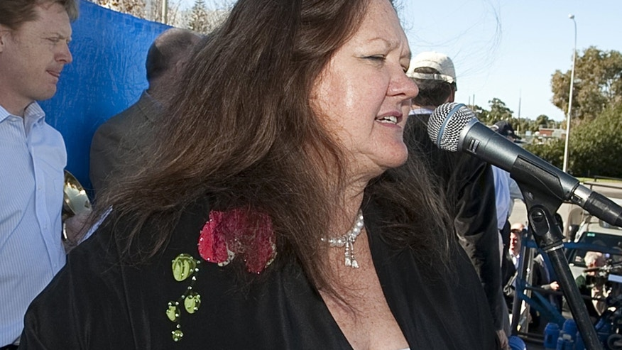 Australian mining magnate Gina Rinehart, pictured in Perth, on June 9, 2010. Rinehart has offered to end a messy legal battle with two of her children for control of a multi-billion dollar family trust by appointing a co-trustee, according to reports.