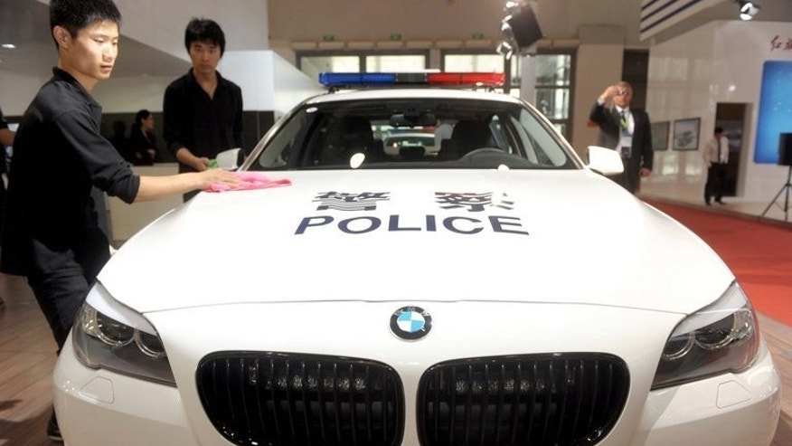 An exhibit at the China International Exhibition on Police Equipment in Beijing in May 2012. A Chinese joint venture of German car maker BMW will recall more than 140,000 cars in the world's largest auto market over power steering defects, China's quality watchdog said Monday.