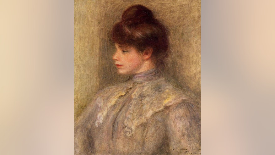 """Madame Valtat,"" by French impressionist Pierre-Auguste Renoir, was stolen from a Tokyo man's home in 2000 and sold at auction in February by Sotheby's in London."