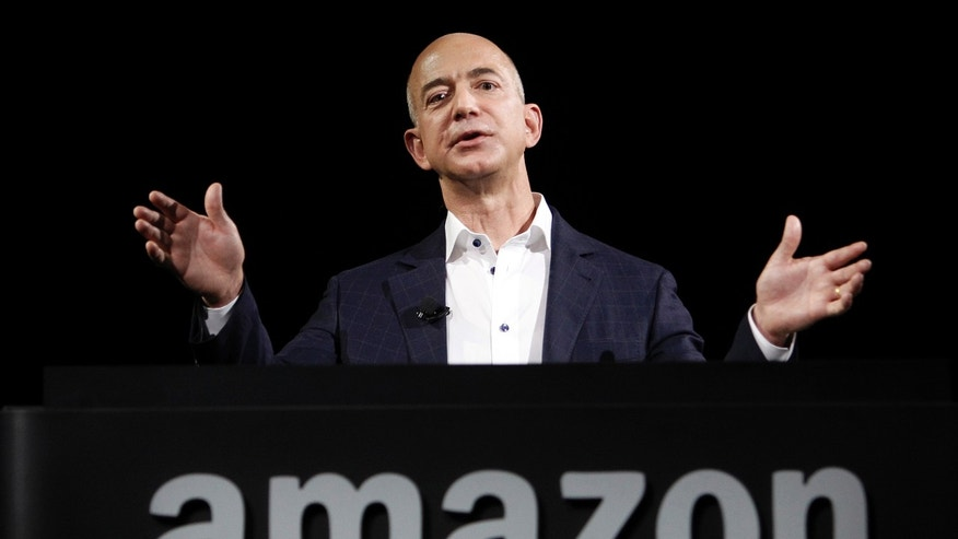 Amazon founder and CEO Jeff Bezos speaks in Santa Monica, Calif., on Sept. 6, 2012.
