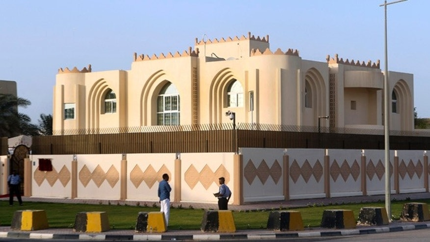 June 18, 2013: This file photo shows a general view of Taliban office in Doha before the official opening in Doha, Qatar.