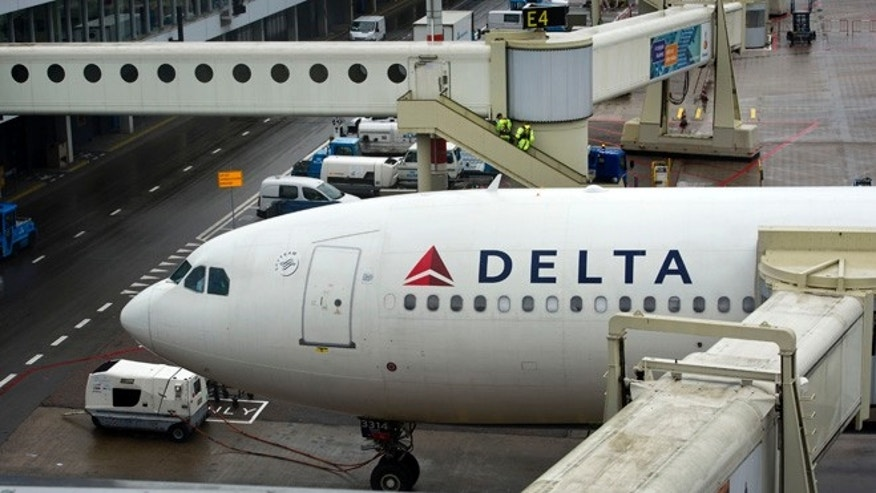 Aug. 7, 2013: A Delta aircraft is seen on Schiphol airport in Amsterdam.