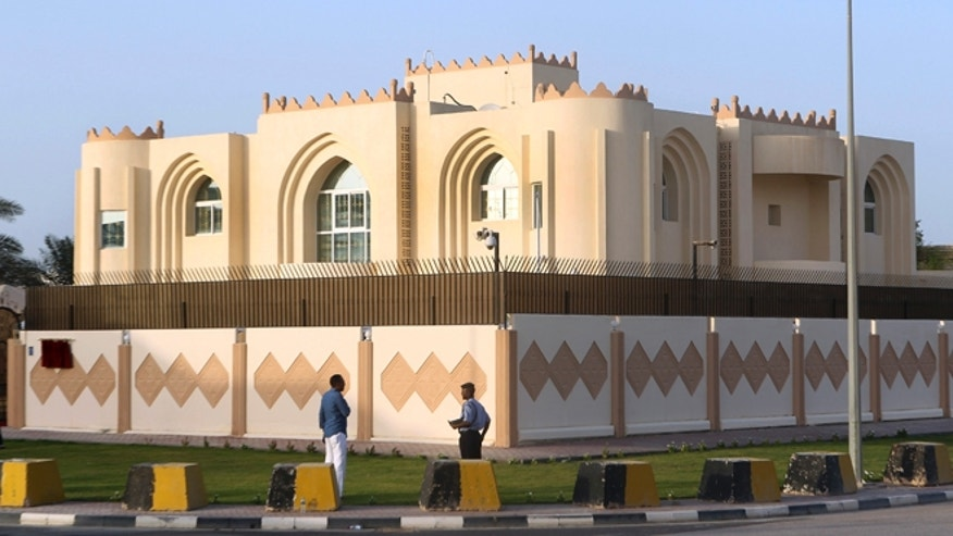 June 18, 2013: A general view of Taliban office in Doha before the official opening in Doha, Qatar. In a major breakthrough, the Taliban and the U.S. announced Tuesday that they will hold talks on finding a political solution to ending nearly 12 years of war in Afghanistan as the Islamic militant movement opened an office in Qatar. American officials with the Obama administration said the office in the Qatari capital of Doha was the first step toward the ultimate U.S.-Afghan goal of a full Taliban renouncement of links with Al Qaeda.