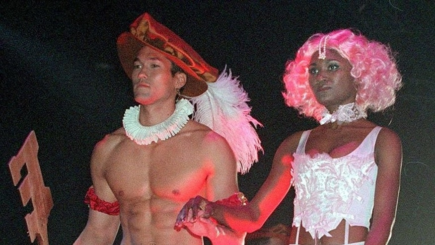 "This file picture taken on September 25, 1999 shows models presenting ""The Evolution of Underwear"", a catwalk show of Joe Boxer underwear in Santa Monica, California. Canadian entrepreneur Nick Graham created the Joe Boxer underwear brand at his kitchen table in San Francisco in 1985, but he tells AFP that he is now starting to see a change in men's attitude towards fashion."