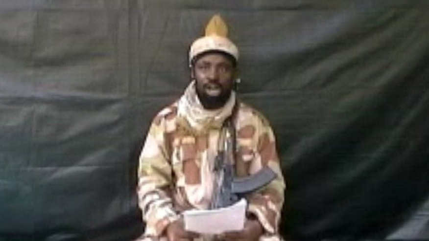 A screen grab on July 13, 2013 from a video obtained by AFP shows the leader of the Islamist extremist group Boko Haram. The leader of Nigeria's Boko Haram Islamists has claimed a series of recent deadly attacks on security forces in the northeast, in a video obtained by AFP Monday.