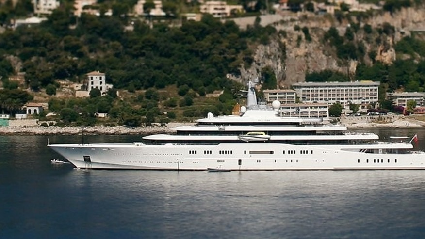 Russian billionaire Roman Abramovitch's yacht,' Eclipse' is moored on July 6, 2013 in Villefrance-sur-Mer, France. The Emirati royal family has dethroned Russian billionaire Roman Abramovich in the race to own the world's biggest mega-yacht, Yachts France magazine has reported.