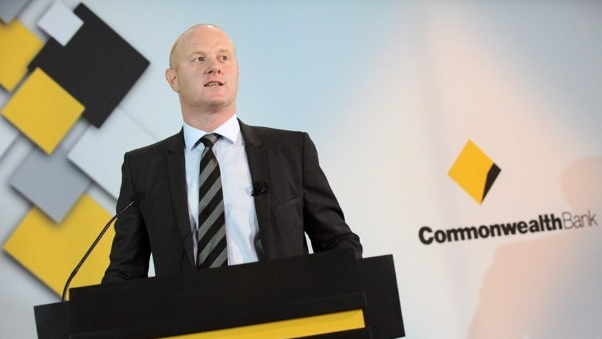 Ian Narev, chief executive of the Commonwealth Bank, pictured during a press conference in Sydney on February 15, 2012. He cited the bank's focus on productivity and innovation as a factor behind the bumper profits.