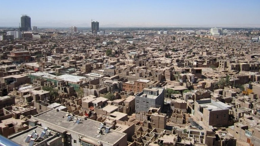 The old city of Kashgar, in northwest China's Xinjiang region on August 4, 2011. Death sentences for two men over violence in China's ethnically divided western region of Xinjiang earlier this year were justified, official media on Tuesday quoted academics as saying.