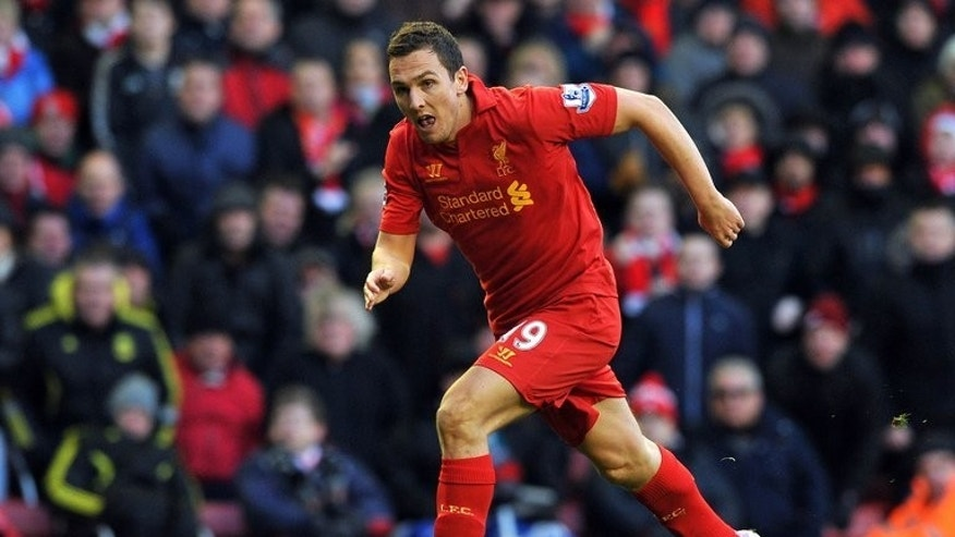 Liverpool's English winger Stewart Downing pictured during a Premier League match against Tottenham Hotspur at Anfield in Liverpool, northwest England, on March 10, 2013. West Ham United on Tuesday announced the signing of England international Downing from Liverpool for an undisclosed fee.