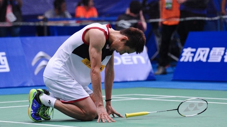 Malaysia's Lee Chong Wei, seen during the men's singles final against China's Lin Dan, at the World Badminton Championships in Guangzhou, on August 11, 2013. Badminton takes a leap into the unknown on August 14, when a new franchise-based team event with innovative rules aimed at drawing bigger crowds opens in India. Lee, the league's top draw and the world number one, is under an injury cloud.