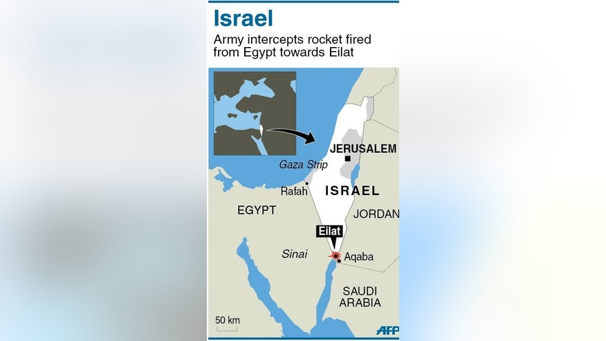 Israel intercepted and destroyed a rocket fired from Egyptian territory at the Red Sea town of Eilat overnight, Israeli public radio said Tuesday.