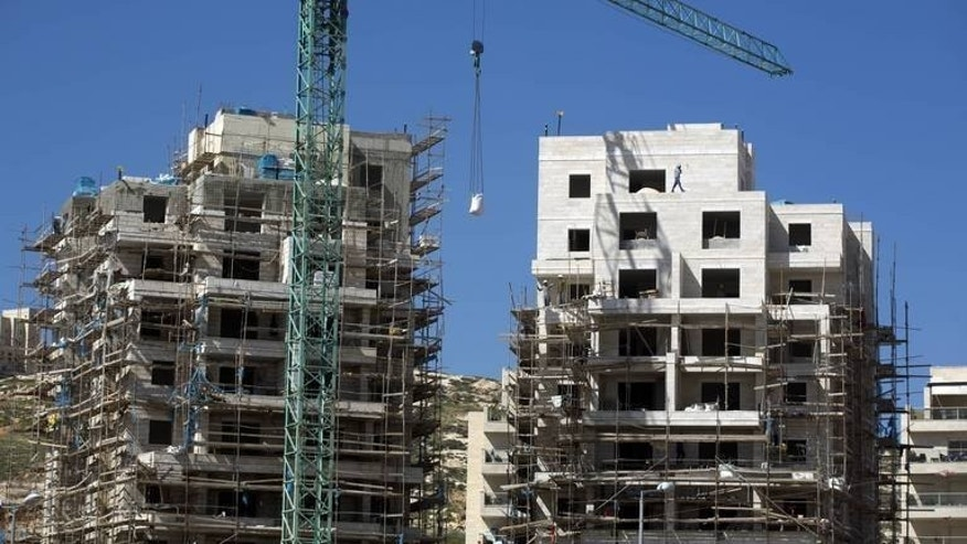 "A housing construction site in the Israeli settlement of Har Homa in east Jerusalem, is pictured on February 27, 2013. Middle East peace talks could ""collapse"" due to continuing Israeli settlement expansion, a senior Palestinian official has warned on the eve of the scheduled resumption of the fragile process."