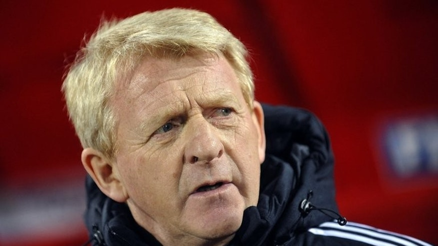 Scotland head coach Gordon Strachan pictured at a World Cup qualifying match in Novi Sad on March 26, 2013. Strachan's side can no longer qualify for next year's World Cup in Brazil, but they were buoyed by a 1-0 win over Croatia in June.