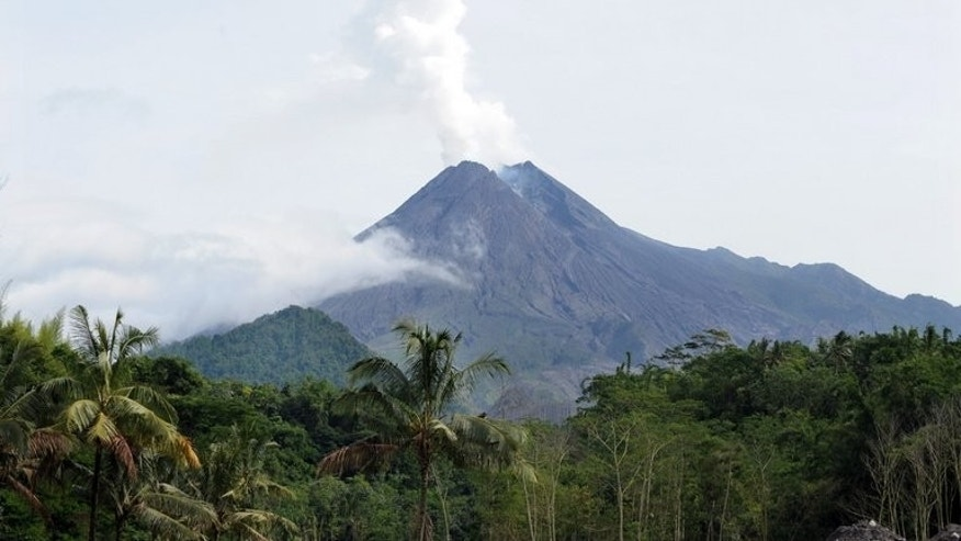 The Mount Merapi volcano in Sleman, Yogyakarta on January 30, 2011. A Russian hiker has been missing since the weekend after trying to climb Indonesia's most active volcano, an official said on Tuesday.