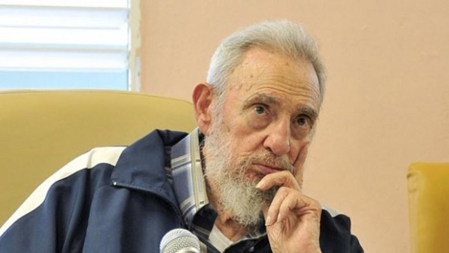 A picture published on the Cuban website www.cubadebate.cu shows former president Fidel Castro attending the inauguration of a school in Havana, on April 9, 2013. Castro has credited North Korea with supplying Cuba with free weapons in the 1980s after the Soviet Union said it could no longer defend the island against a US invasion.
