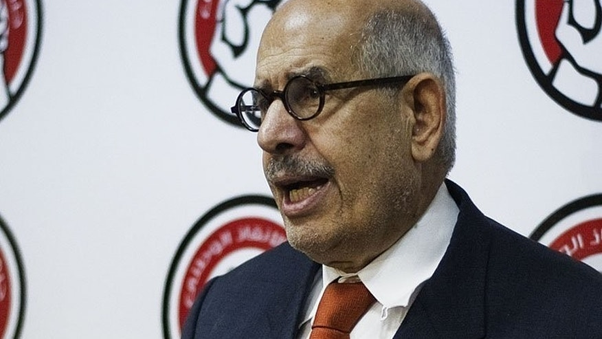 Egypt's vice president Mohamed ElBaradei, seen here in June 27, 2013, has announced his resignation in a letter to the interim president that was seen by AFP.