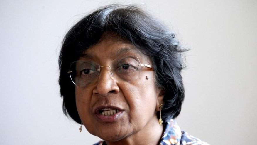 UN rights chief Navi Pillay speaks to the press during a visit to Bali, on November 9, 2012. Pillay has urged the Gaza Strip's Islamist rulers Hamas to halt a string of executions planned after the end of the Muslim Eid al-Fitr holiday.