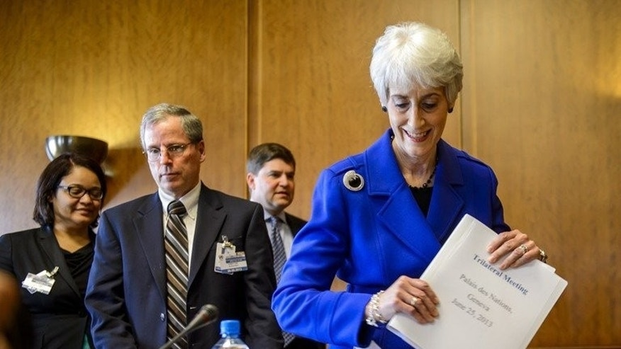 Wendy Sherman at the United Nations office in Geneva on June 25. Boko Haram's brutal Islamist insurgency has stalled Nigeria's development, inflamed ethnic tensions and raised concern among its neighbours, a senior US diplomat said Thursday at the start of bilateral security talks.