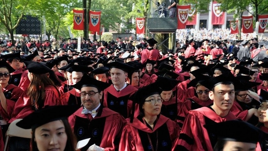Commencement Exercises are held at Harvard University on May 30, 2013 in Cambridge, Massachusetts. US universities dominate the top 20 in global annual rankings released by a Chinese organisation Thursday, with Harvard once again in top spot.