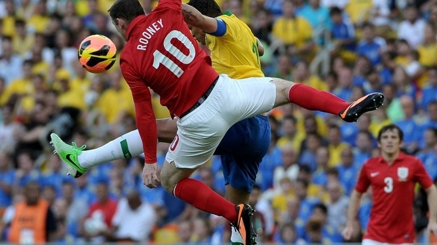 Wayne Rooney during an international friendly against Brazil on June 2, 2013. Manchester United manager David Moyes will have to decide whether to bring the striker in from the cold as the Premier League kicks off
