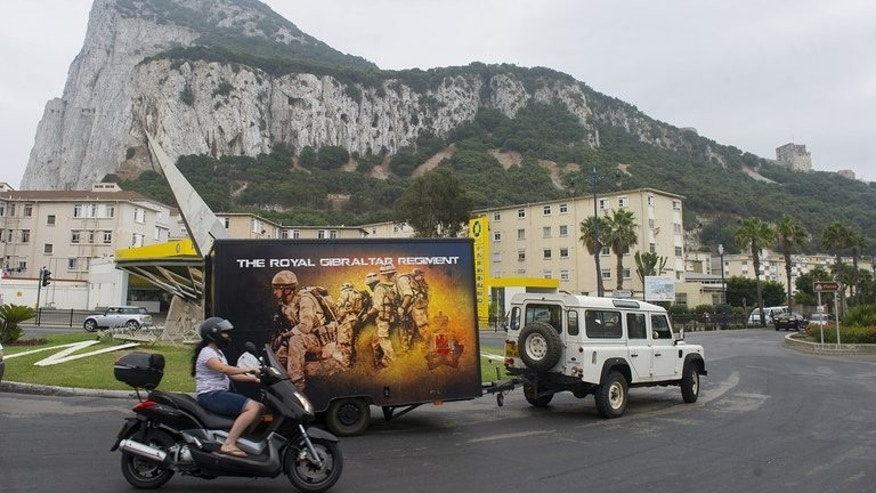 "General view of the ""Rock"", Gibraltar on August 13, 2013. Situated in sight of unstable north Africa and on the shipping route to the Middle East, Gibraltar has military and intelligence facilities that still make it a strategic asset for Britain, analysts say."