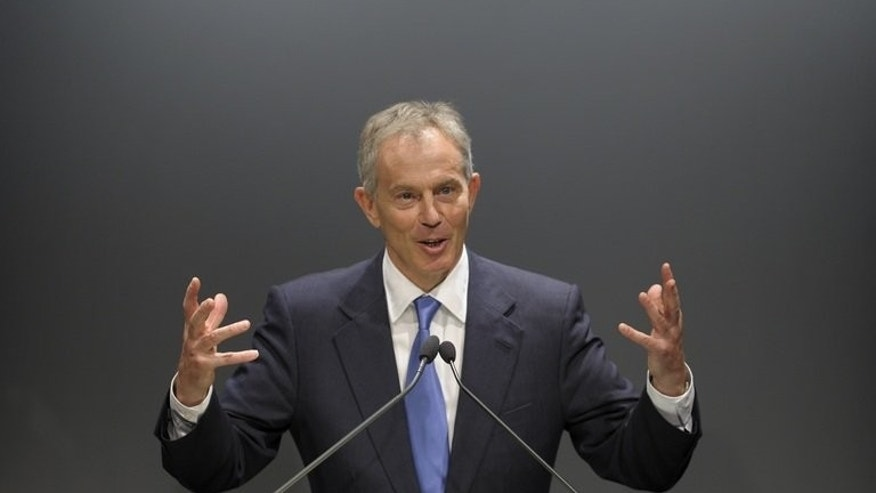 Former British prime minister Tony Blair speaks during a seminar at a private university in Sao Paulo, Brazil, on October 26, 2010. Thailand has denied it will pay Blair $640,000 to speak at an upcoming government-sponsored forum in Bangkok on bridging the kingdom's festering political divides.