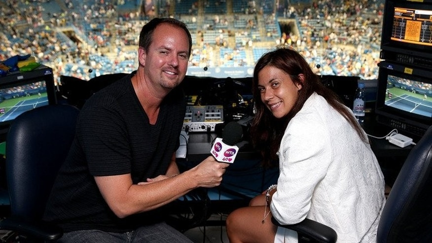 Kevin Skinner is visited by Marion Bartoli on August 16, 2013 at Lindner Family Tennis Center in Cincinnati, Ohio. Bartoli, who shocked tennis by announcing her retirement last week, revealed her new job on Sunday -- as a TV pundit.