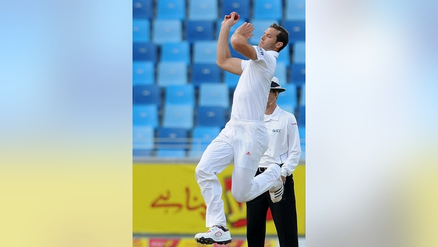 Chris Tremlett makes a delivery against Pakistan in Dubai in January last year. England gave themselves further fast-bowling choices with the inclusion of Chris Tremlett, who if selected will be playing on his Surrey home ground in south London