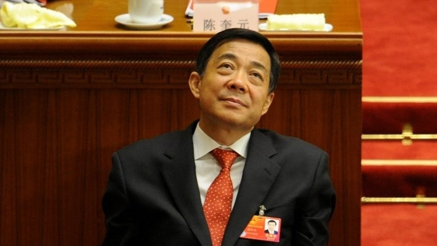 Former Chongqing Party Secretary Bo Xilai, picture on March 14, 2012. Bo's wife Gu Kailai was given a suspended death sentence in August 2012 for fatally poisoning Neil Heywood.