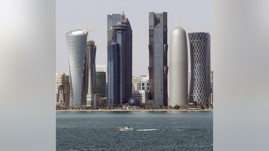 The skyline of Qatari capital Doha, pictured on January 1, 2013. Qatar, along with the United States and China, has been criticised by green activists for using too many of the earth's natural resources.