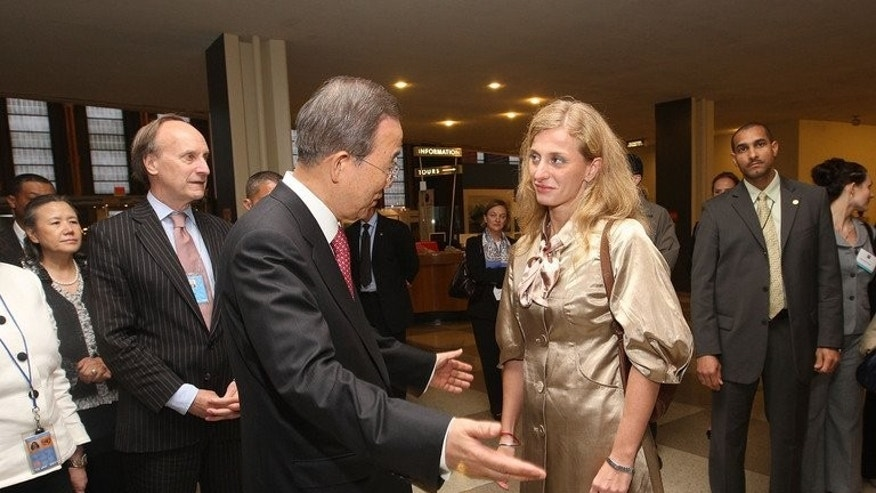 "Secretary-General of the United Nations Ban Ki-moon and Carolina Larriera attend the HBO documentary screening of ""Sergio"" at the United Nations on June 18, 2009 in New York City. The United Nations has failed to properly investigate the devastating truck bombing that destroyed the UN mission in Baghdad 10 years ago and killed envoy Sergio Vieira de Mello, his former partner charged Monday."