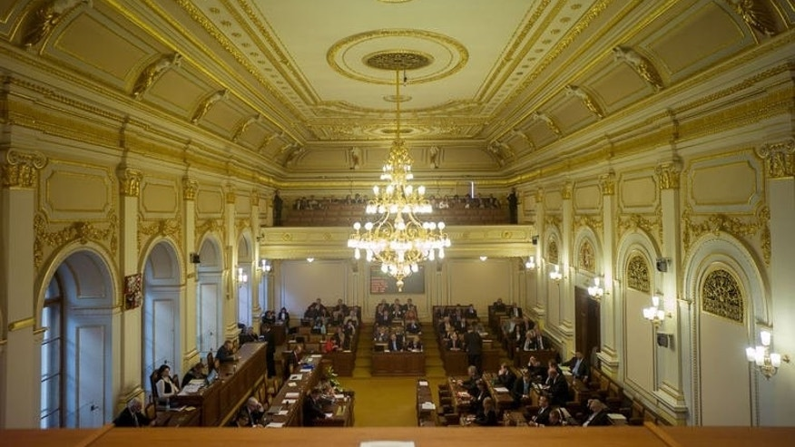 Czech lawmakers attend a session on August 20, 2013 in Czech Parliament in Prague.