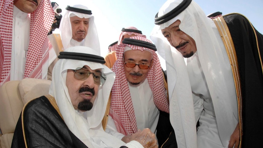 The royal family, including Saudi King Abdullah, (l.), is believed tobe concerned about homegrown jihadists. (AP)