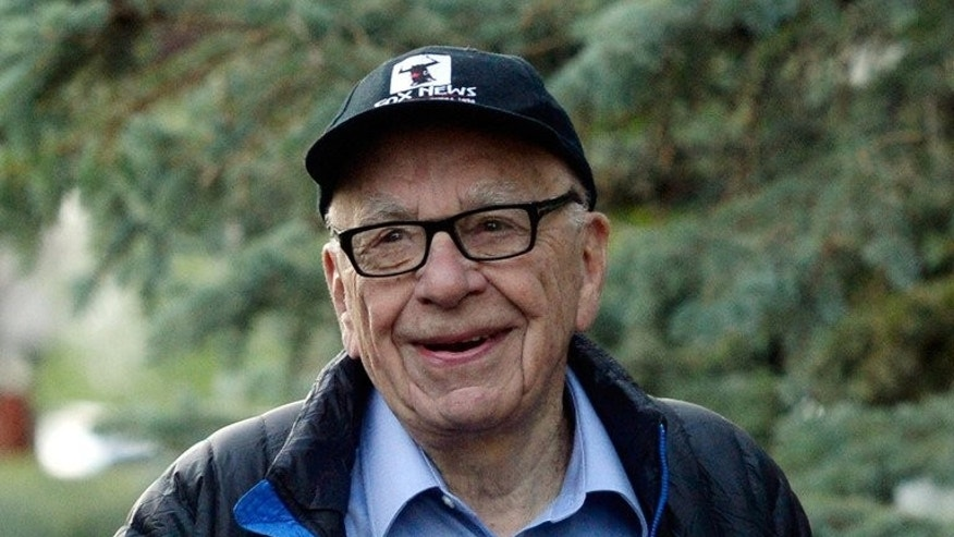 Media mogul Rupert Murdoch, pictured July 12, 2013, said PM Kevin Rudd was 'all over the place, convincing nobody' ahead of elections. He has already called for voters to 'kick out' the current government.