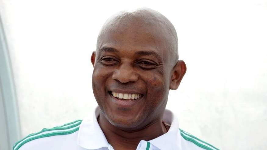 Nigerian Coach Stephen Keshi is pictured on July 6, 2013 in Kaduna. Keshi has called up a total of 42 players made up of 24 from the local league and 18 from overseas for a World Cup qualifier against Malawi next month.