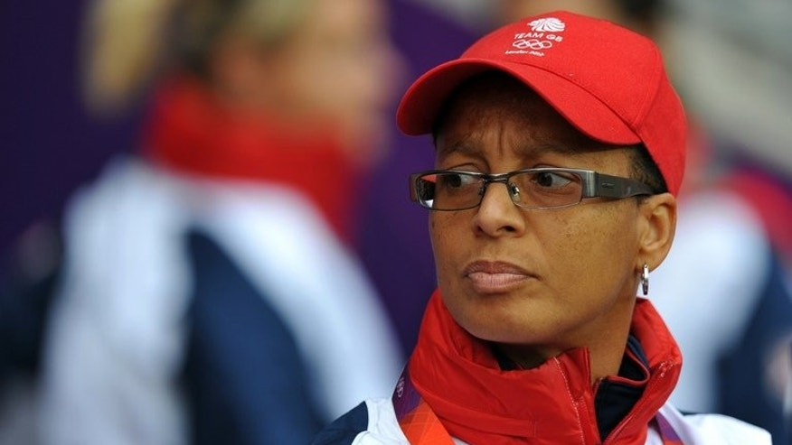 Head coach of the England women's football team Hope Powell at the City of Coventry Stadium in Coventry on August 3, 2012. Powell has been dismissed as head coach of the England women's football team, the Football Association announced.