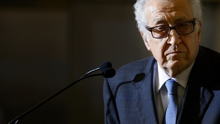 UN peace envoy Lakhdar Brahimi attends a press conference on June 25, 2013 at the United Nations office in Geneva. UN-Arab League envoy Brahimi will not take part in crunch talks next week between Russian and US officials on a long-delayed Syria peace conference, the United Nations said Tuesday.