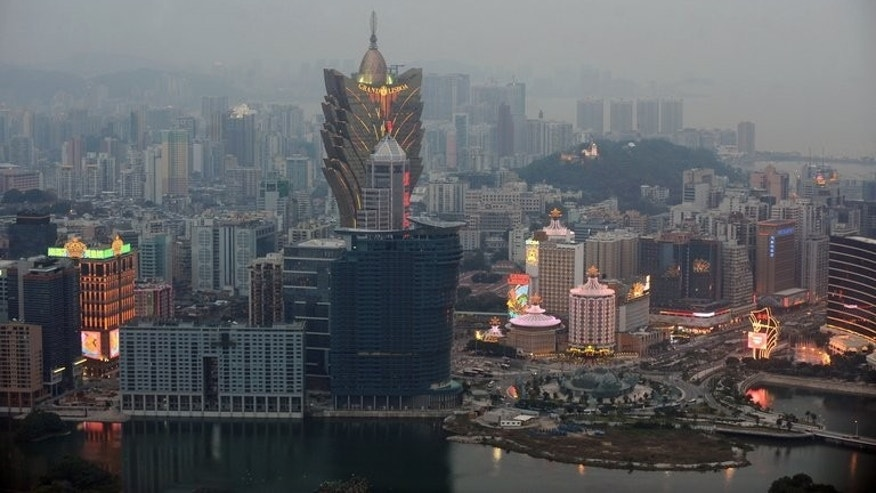 This general view from the Macau Tower shows casinos in the central district Macau on December 20, 2009. The boss of Macau's Shui Fong triad has been ordered deported from Canada, it was announced Wednesday.