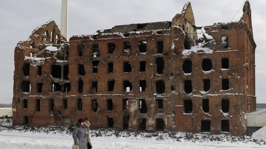"The steam mill, a famous stronghold in the historical Stalingrad battle, in Volgograd on January 31. Russia's pole vault champion Yelena Isinbayeva, who last week stoked controversy by voicing strong support of recent anti-gay laws, declared she wanted to leave her ""decayed"" Russian home town to live in Monaco, in an interview published Thursday."