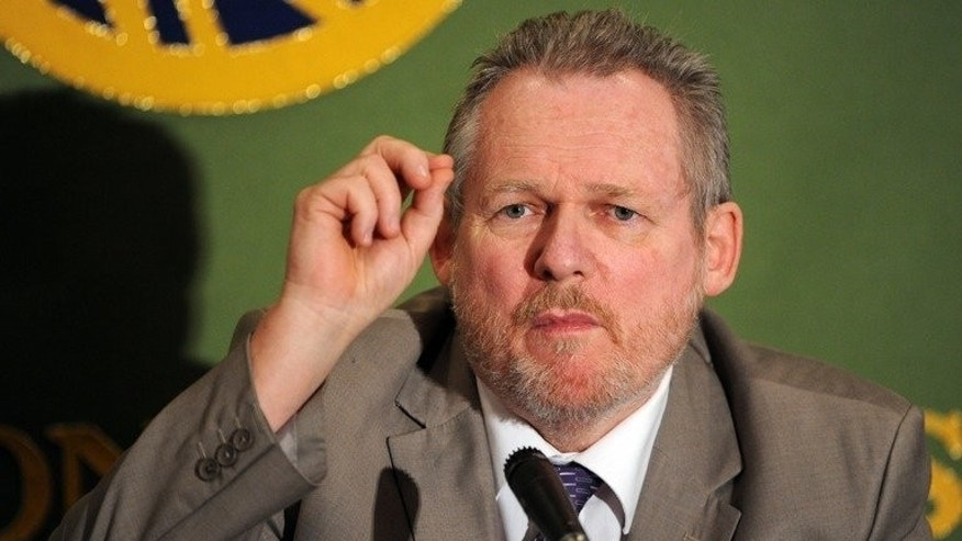 South African Trade Minister Rob Davies answers a question during a press conference in Tokyo on May 29, 2012. South Africa may start exploration for shale gas before elections in April next year, the trade minister said Thursday.