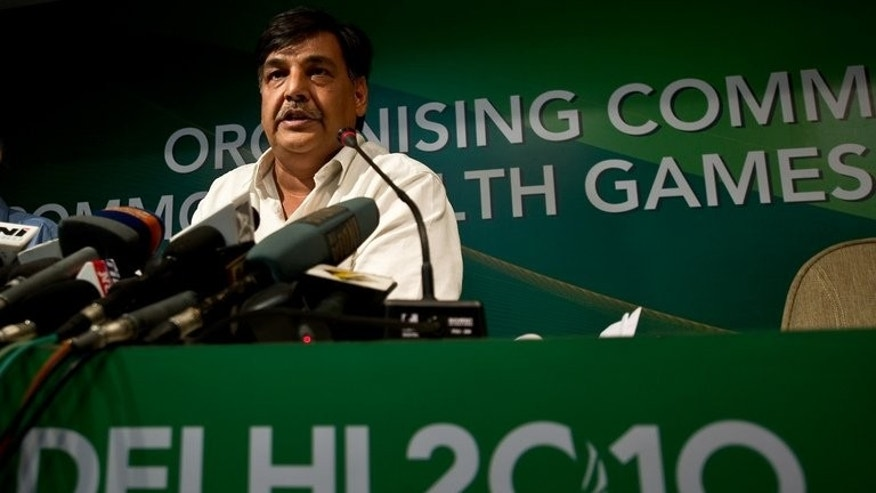 This file photo shows then Delhi Commonwealth Games General Organising Committee Secretary Lalit Bhanot addressing media in New Delhi, on August 5, 2010. The International Olympic Committee (IOC) suspended the Indian Olympic Association (IOA) in December after it elected Bhanot -- who is charged with corruption linked to the 2010 Commonwealth Games -- as its secretary-general.