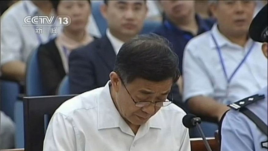 "CCTV footage from August 23, 2013 shows ousted Chinese political star Bo Xilai . Bo has admitted ""some responsibility"" for five million yuan ($800,000) he is accused of embezzling that ended up in his wife's accounts, according to transcripts provided by a court."