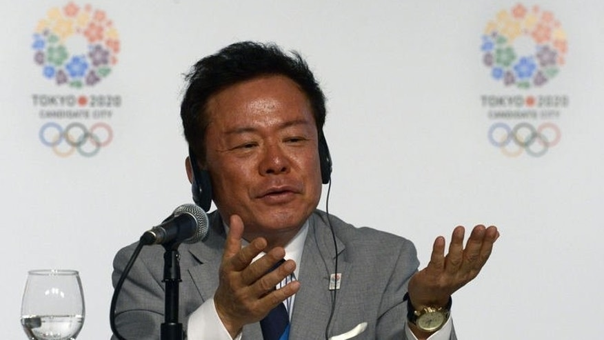 Tokyo Governor Naoki Inose talks to journalists during a news conference promoting Tokyo for the 2020 Olympic games in Buenos Aires on September 6, 2013.