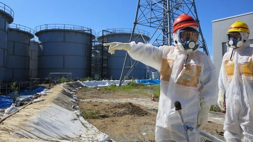 This handout picture taken by Tokyo Electric Power Co. (TEPCO) on August 26, 2013 shows contamination water tanks at TEPCO's Fukushima nuclear power plant.