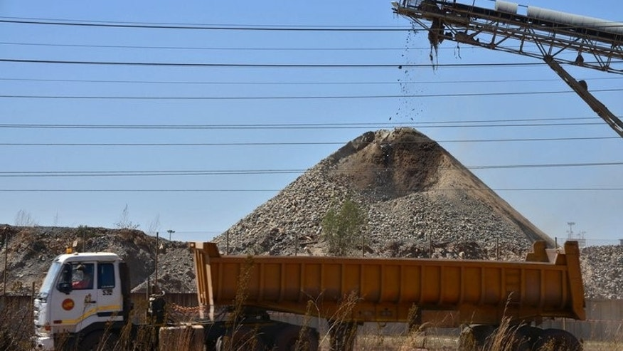 Work continues at a mine in Carltonville on September 5, 2013. Some striking South African gold mine workers have accepted a new wage offer from producers and started returning to work, a union leader said.