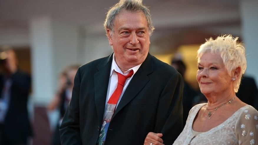 "British director Stephen Frears and actress Judi Dench arrive for the screening of ""Philomena"" presented in competition at the 70th Venice Film Festival on August 31, 2013 at Venice Lido. Frears provoked a hugely enthusiastic response with his charming tragi-comedy ""Philomena""."